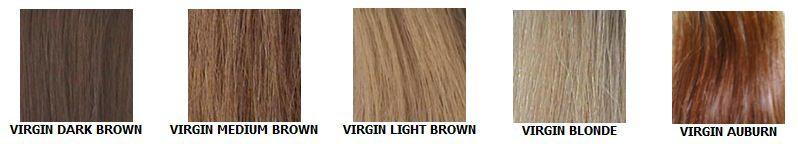 kleuren van de haarwerken